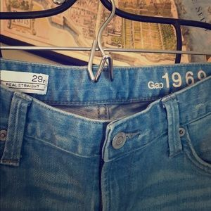 """Gap1969 light wash """"real straight"""" jeans size 29r"""